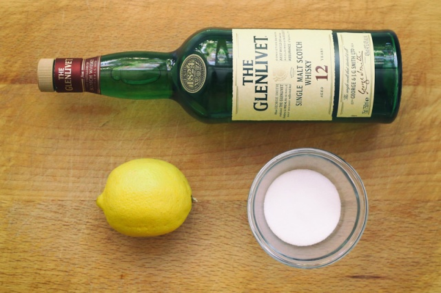 8. Scotch Whiskey Punch - Ingredients