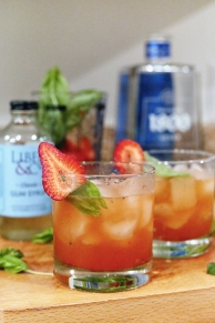 Strawberry Basil Margarita - Hero
