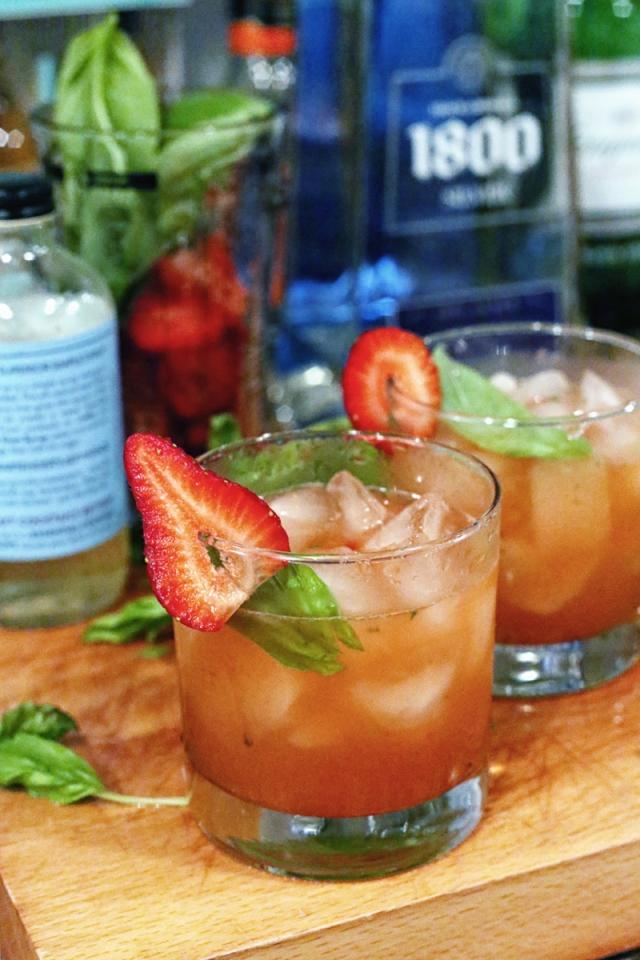 Strawberry Basil Margarita - Last Look