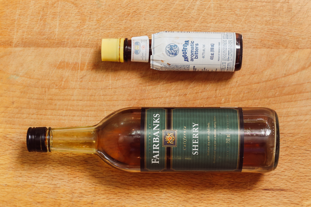 219. Sherry and Bitters - Ingredients