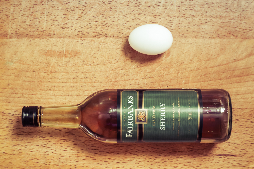 218. Sherry and Egg - Ingredients
